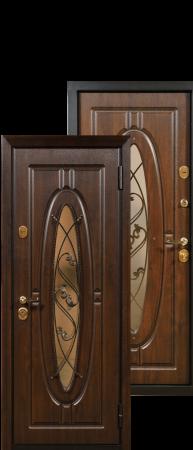 Стальная дверь «Монарх»Дуб темный/Дуб темный