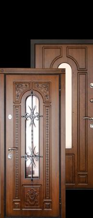 Стальная дверь «Лацио» Дуб антик/Дуб антик