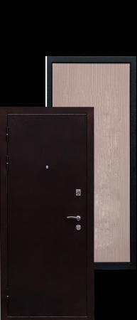 Стальная дверь Практик беленый дуб