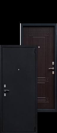 Стальная дверь Оптима Черный Шелк