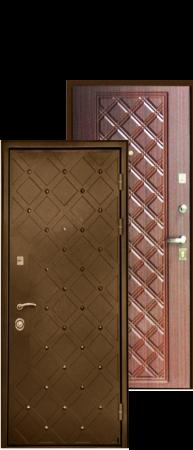 """Стальная дверь """"Сундук"""" Махагон коричневый"""