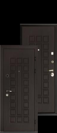 """Стальная дверь """"Сенатор Меттэм"""" Венге/ Венге"""