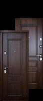 """Стальная дверь """"Классика"""" Темный дуб/Темный дуб"""